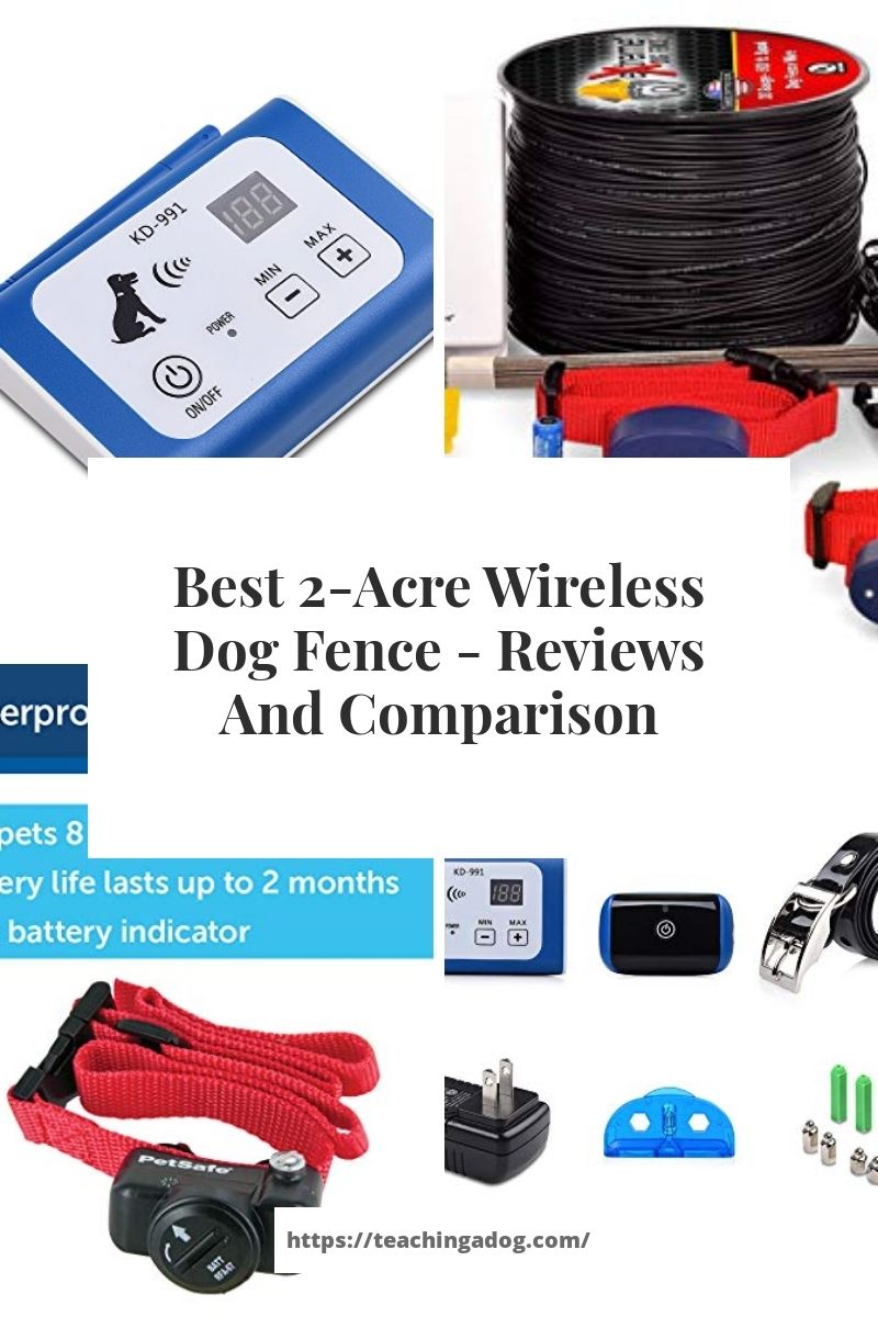 Best 2 Acre Wireless Dog Fence Reviews And Comparison In 2020 Dog Fence Wireless Dog Fence Pet Containment Systems