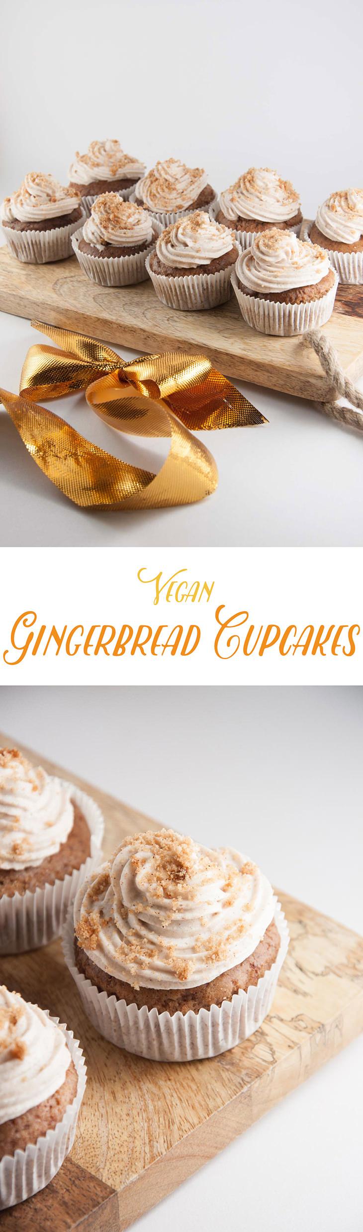 Vegan Gingerbread Cupcakes   ElephantasticVegan.com