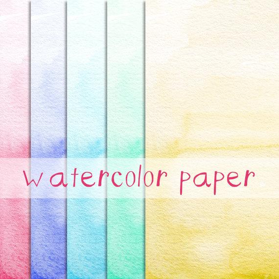 Watercolor Ombre Paper Image Pack Clip Art от DigitalPressCreation - border paper template