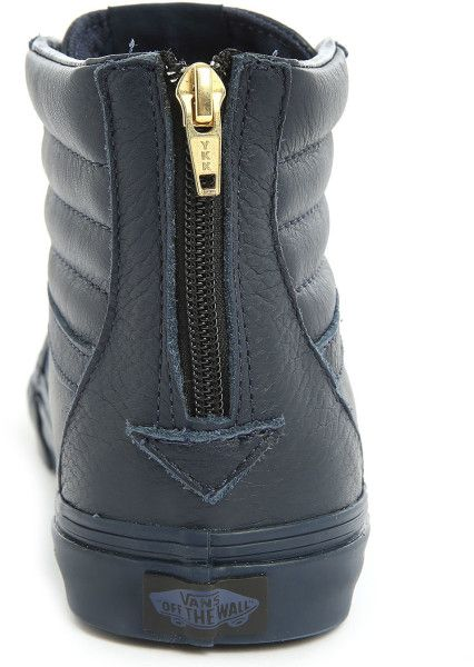 cc8b950dc4b6 Vans Sk8 High-Top Navy Leather California Zipper Sneakers in Blue for Men  (navy)