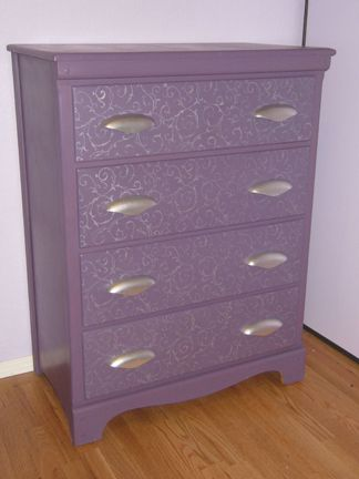 Stencil Furniture Dresser Drawers