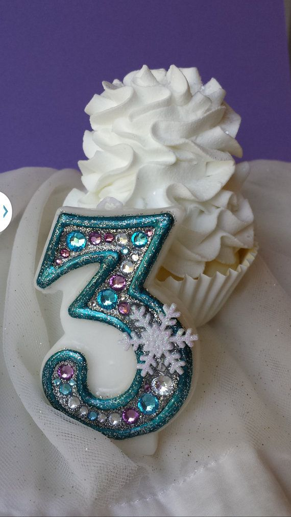Frozen birthday candle keepsale candle anniversary candle custom