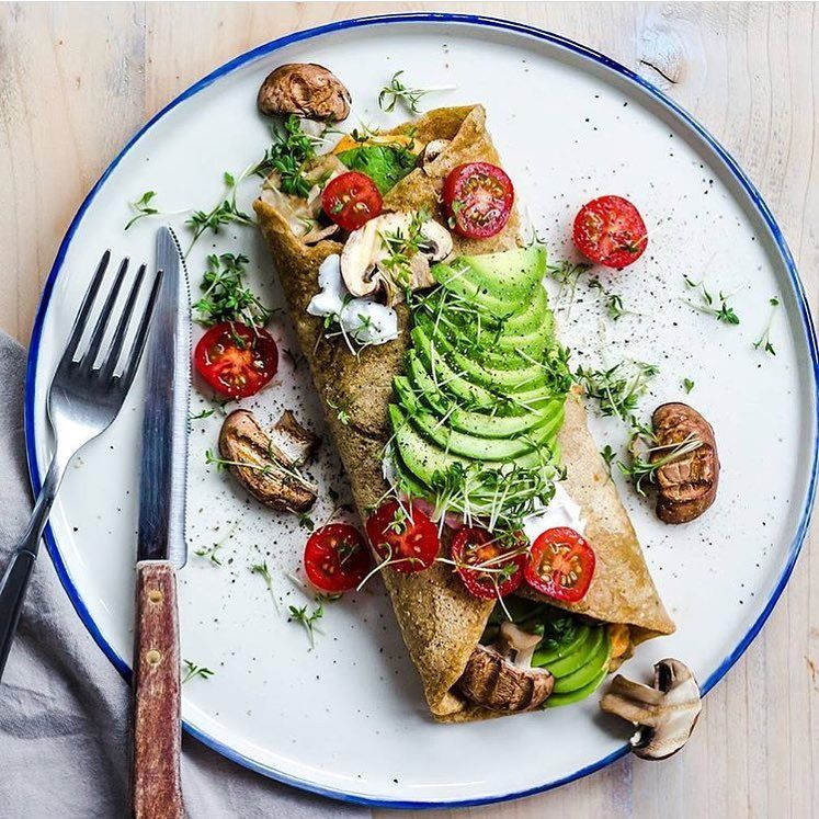 chickpea omelet stuffed with veggies and avocado  by Marie Reginato (8thandlake) (@marie.reginato) • Instagram photos and videos