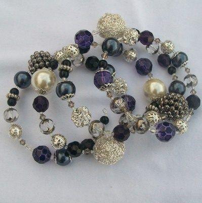 Amazing Multi Beaded Spiral Bracelet