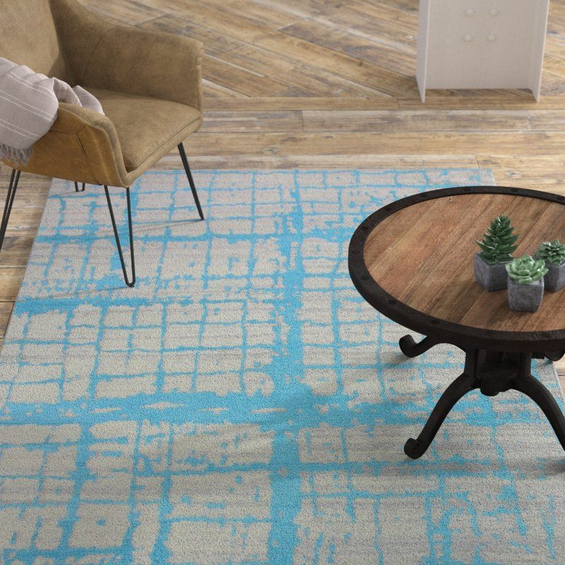 Diego Cotton Turquoise Area Rug is part of Dark Living Room Orange - Bold contemporary patterns with a high and low effect in striking colors