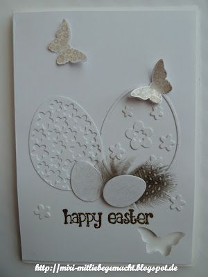Photo of Miri – MitLiebegemacht: Eine Osterkarte weiß in weiß – #eine #Miri #mitliebege…