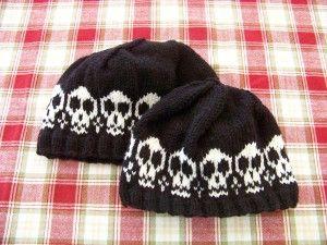 8332844f1 knitted-skull-cap -- free pattern | Knitting | Crochet skull, Knit ...