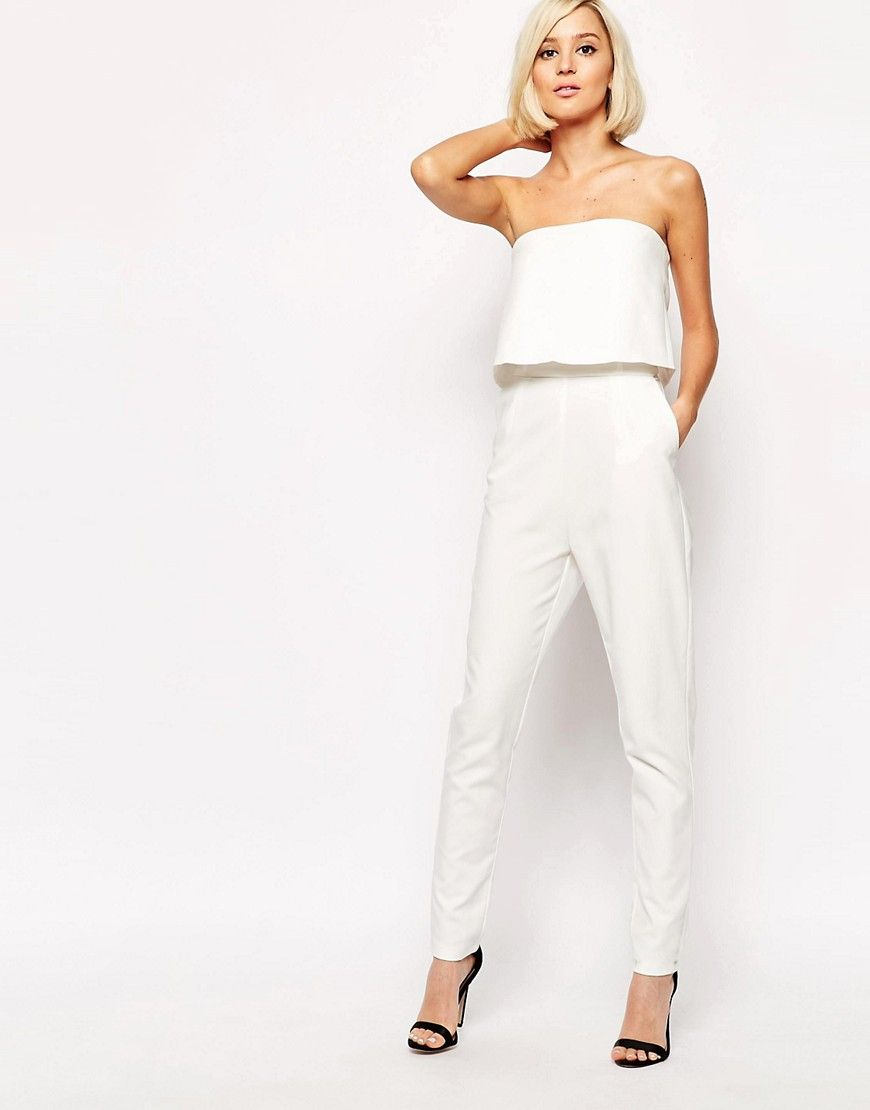 d878d51b8cf Lavish Alice Bandeau Split Back Cropped Jumpsuit