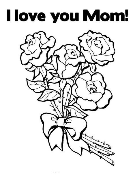 i love my mommy coloring pages | Love You Mom Coloring Pages ...