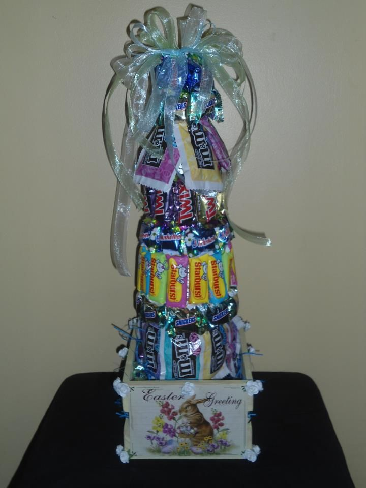 Easter Candy Tree $35.00 50 to 60 pcs of Easter Candy topped with bow
