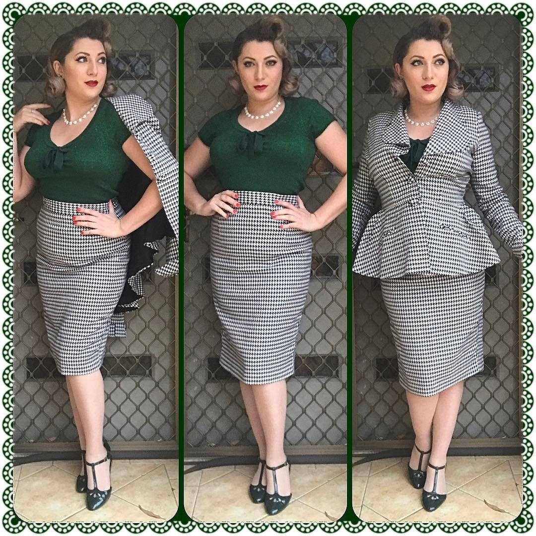 "285 Likes, 9 Comments - Miss Dottie DeMure (@missdottiedemure) on Instagram: ""Office pinup Suit- @bettylebonbon  Top- @hellbunnyofficial  Shoes- @baitfootwear  #ootd…"""