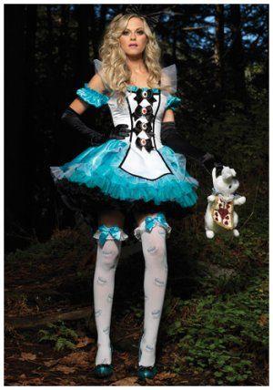 abd2317b31  13.45  Sexy Deluxe Alice Costume. The sexy deluxe Alice in Wonderland  costume includes a blue satin