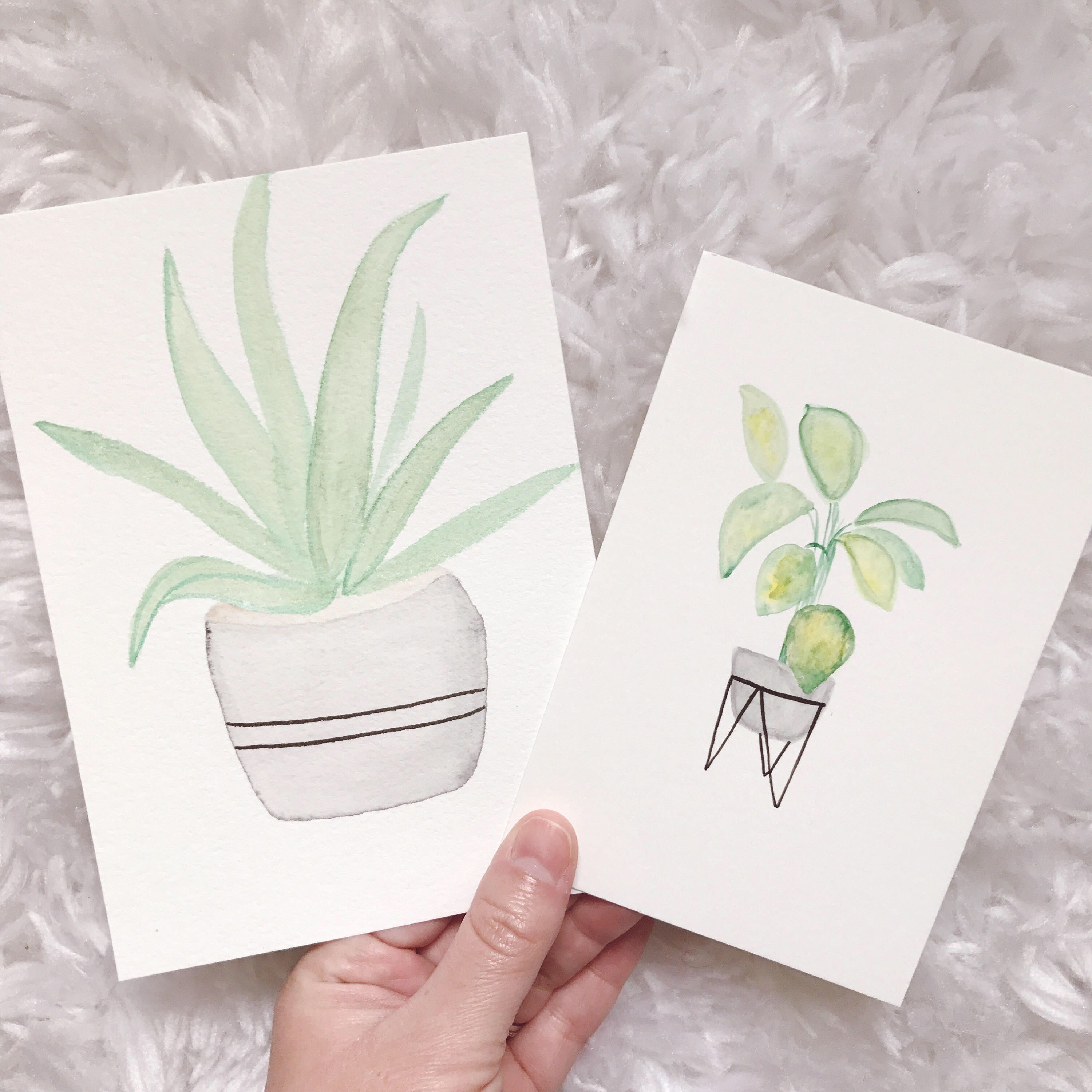 A personal favorite from my Etsy shop https://www.etsy.com/listing/526407103/green-potted-plants