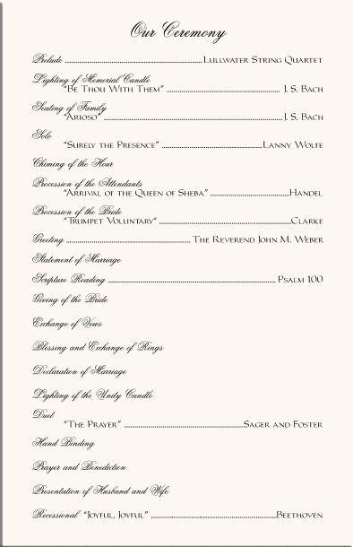 Orchid Wedding Program Examples-Wedding Program Wording-Wedding ...