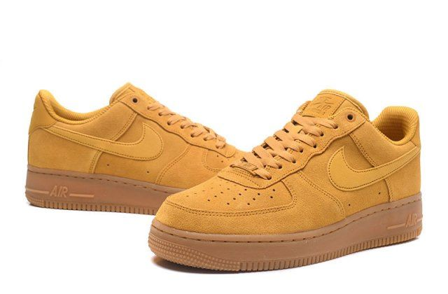newest 9349b 36906 Nike Air Force 1 07 Low Mineral Yellow Unisex Sneakers Shoes 896184-700