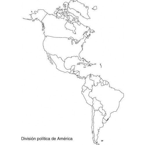 Mapa America Politico Mudo.Pin De Victoria Philipp En Toribio Mapa De America Mapa