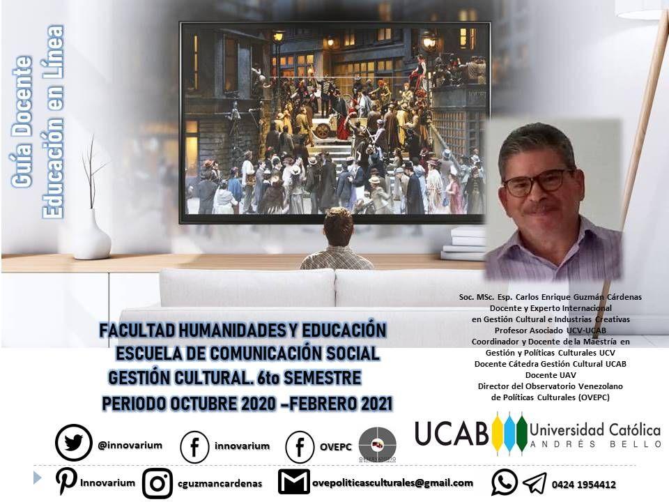 Pin En Ucab Catedra Gestion Cultural 2020 2021