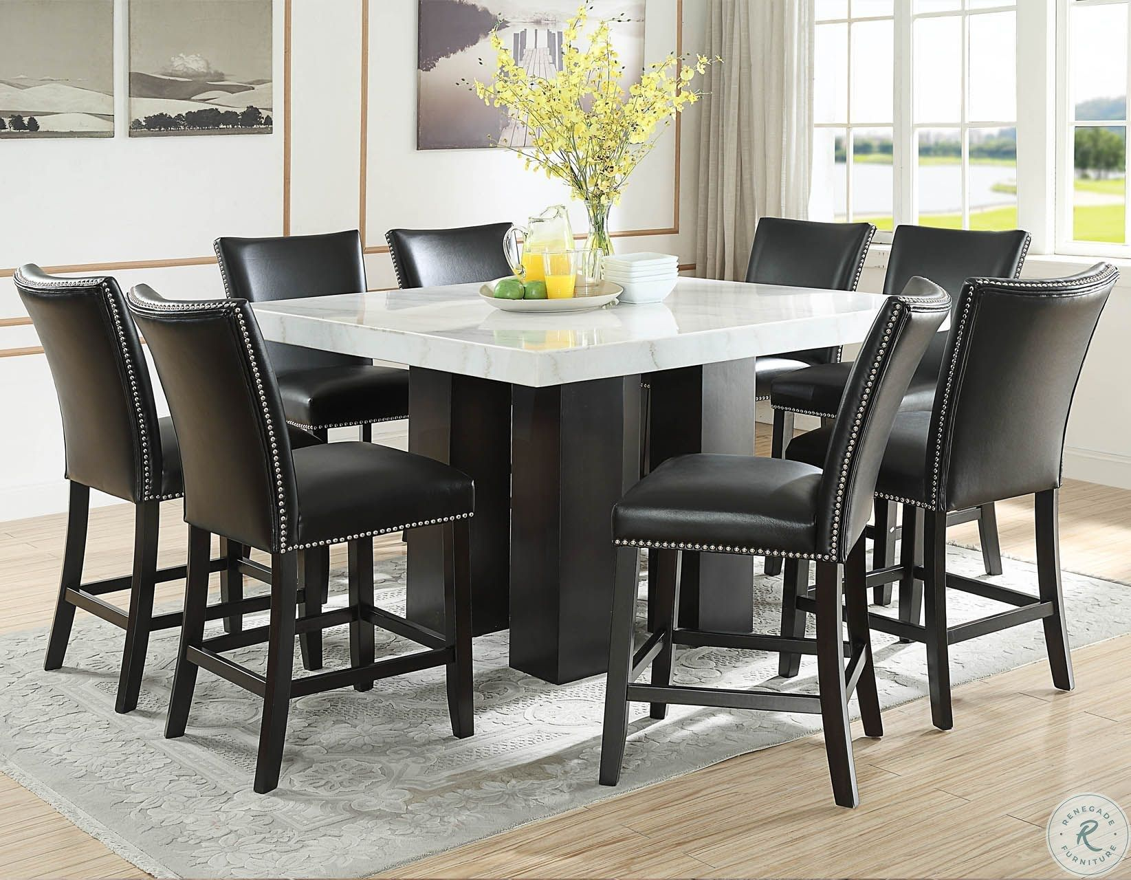Camila Espresso Square Counter Height Dining Room Set In 2021 Counter Height Dining Sets Black Dining Room Furniture Counter Height Dining Room Tables