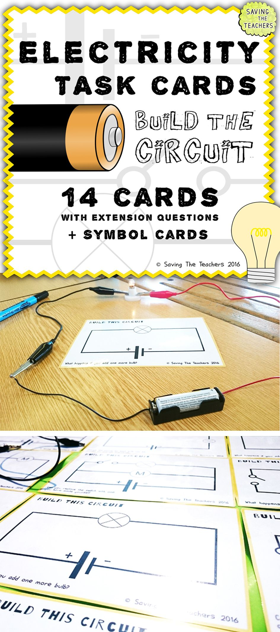 Circuit Cards Electricity Complete Wiring Diagrams Simple Diagram Ks2 Building Activity Circuits Rh Pinterest Com Basic Electrical