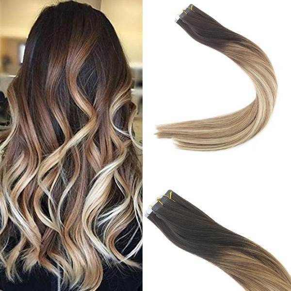 Balayage Ombre Hair Extensions Tape In Clip In Hair Extensions