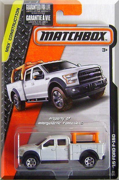 Matchbox 15 Ford F 150 Mbx Construction 26 120 2015 White Edition Matchbox Matchbox Cars Hot Wheels