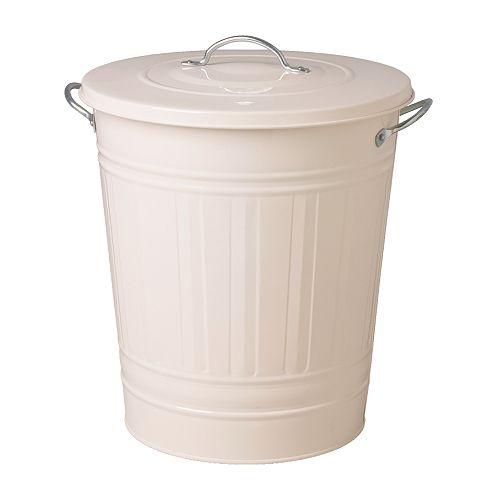 Knodd poubelle avec couvercle blanc ikea pinterest poubelle maison et ikea - Ikea poubelle salle de bain ...