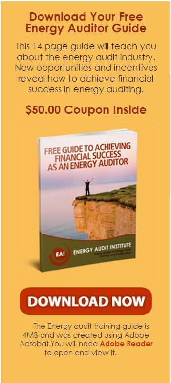 Click Here : http://diygreenpowerforhome.com/Energy_Audit_Institute.php      http://diygreenpowerforhome.com      Download Your Free Energy Auditor Guide  This 14 page guide will teach you about the energy audit industry. New opportunities and incentives reveal how to achieve financial success in energy auditing. IS FREE! WHY WAIT!!! For more information: http://diygreenpowerforhome.com/Energy_Audit_Institute.php