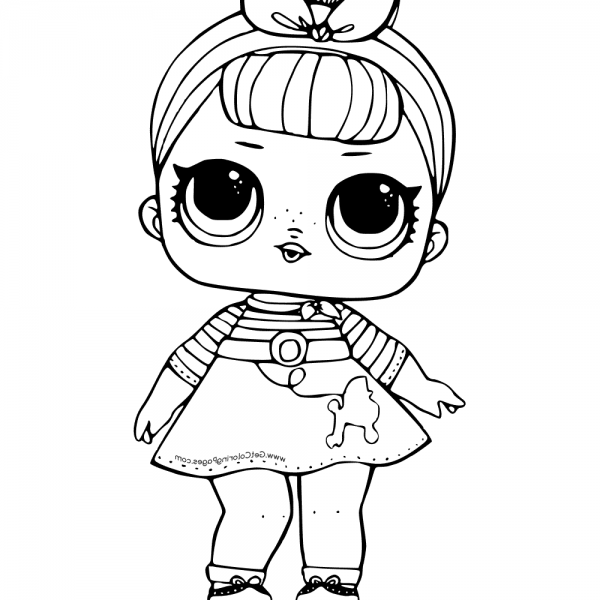 Lol Surprise Doll Coloring Pages Sis Swing Printable