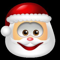 Santa Claus Smile Icon Smiley Smile Icon Emoji Christmas