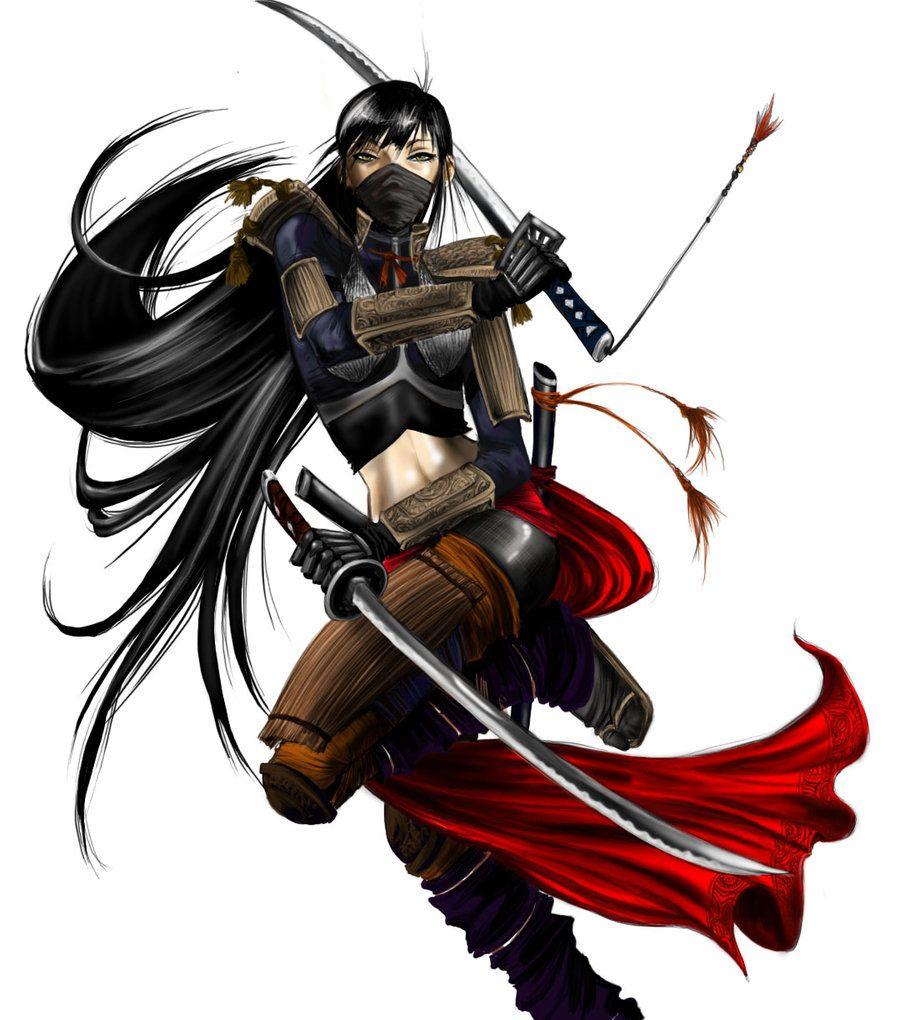 The Samurai Mother Female Samurai Female Ninja Ninja Girl