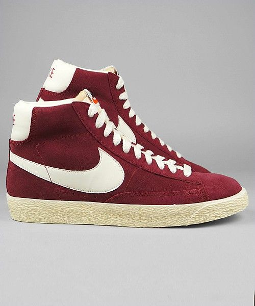 venta barata auténtica Mejores tratos Nike Blazer Baja Ante La Vendimia Tacones Rojos 2015 en línea mnjzkcRePF