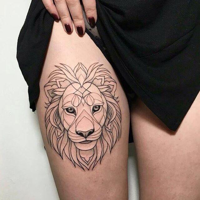 Geometric Lion Tattoo Lion Girl Beautiful Art Tattoo Ink
