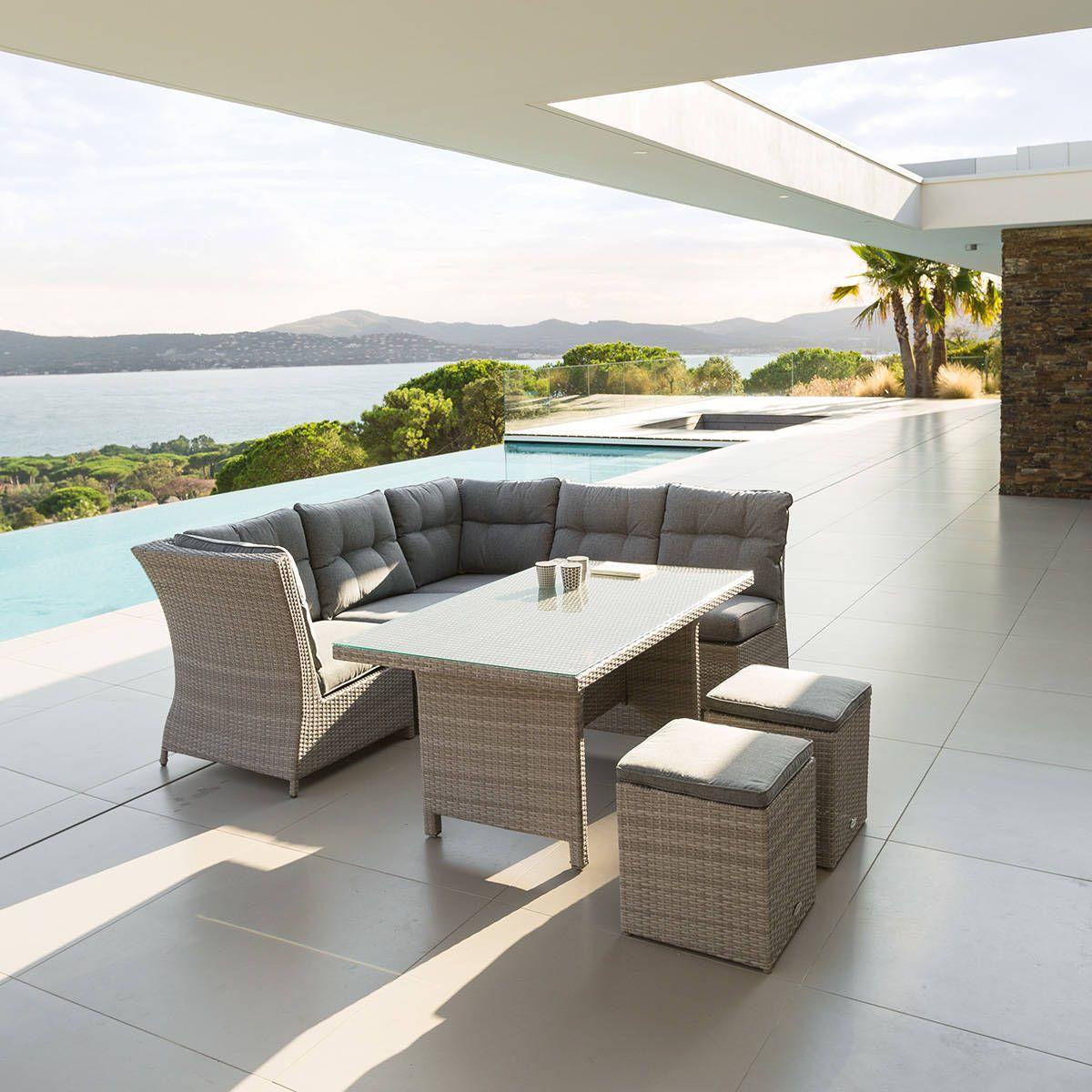 Salon d\'angle de jardin Cuba Grège | Home sweet home | Pinterest ...