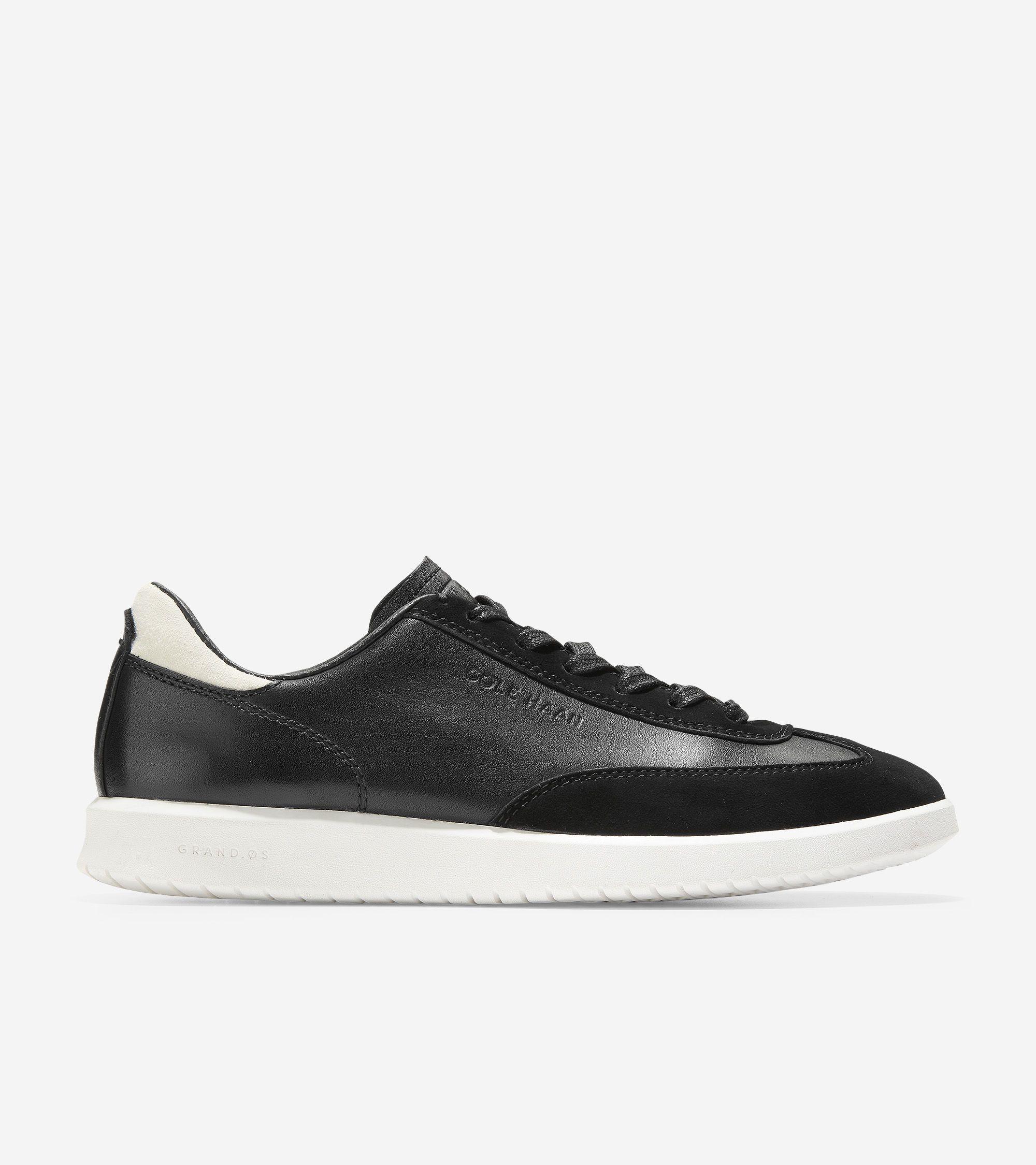 Cole Haan Women's GrandPrø Turf LS Sneaker (Black Leather