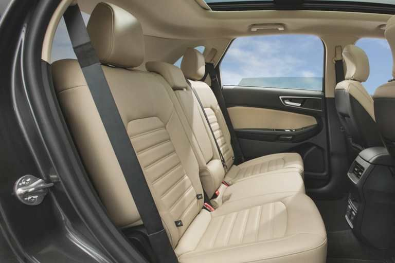 Sel Interior With Dune Leather Trimmed Seats Of The 2017 Ford Edge