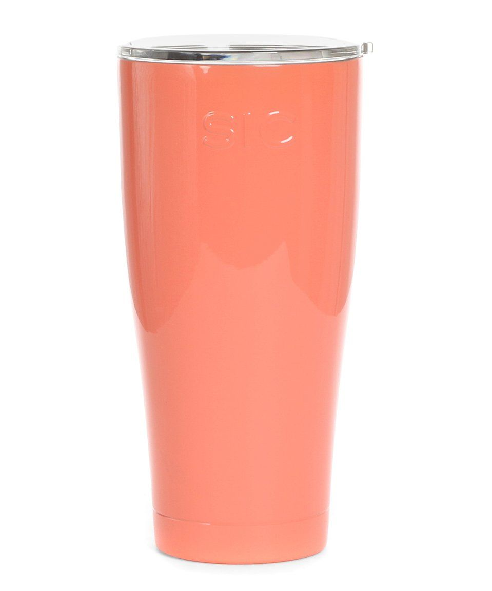 Love this Salmon 30-Oz. Stainless Steel Travel Cup by SIC on #zulily! #zulilyfinds