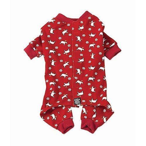 Polar Bear Dog Pajamas by Petrageous - Red