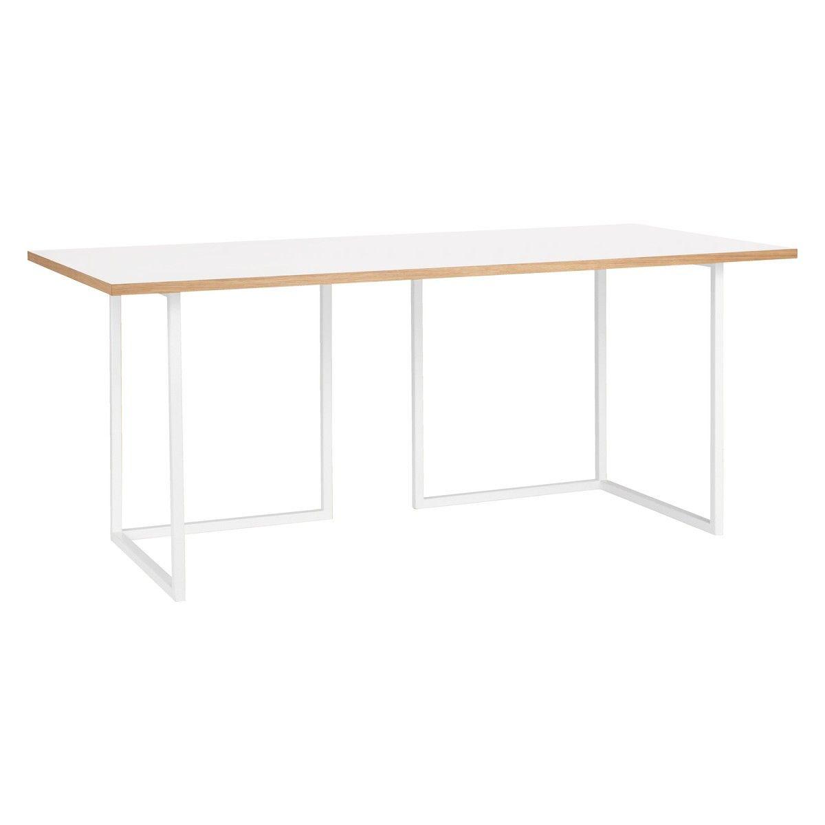 Nac White Laminate Desk With Trestles L180cm
