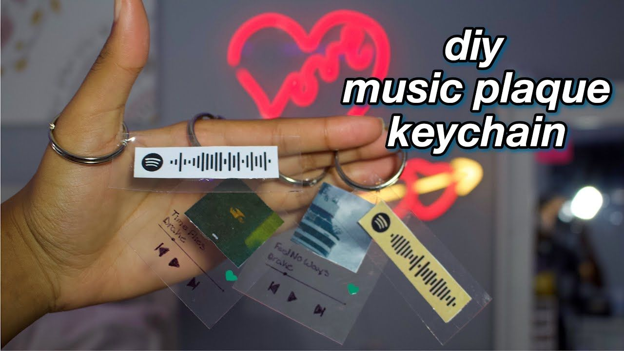 Diy Music Plaque Keychain Spotify Keychain Cheap And Easy Tiktok Youtube Diy Resin Keychain Plaque Diy Diy Keychain