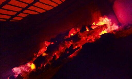 Quelques braises... #feu #braises #brochettes #miam