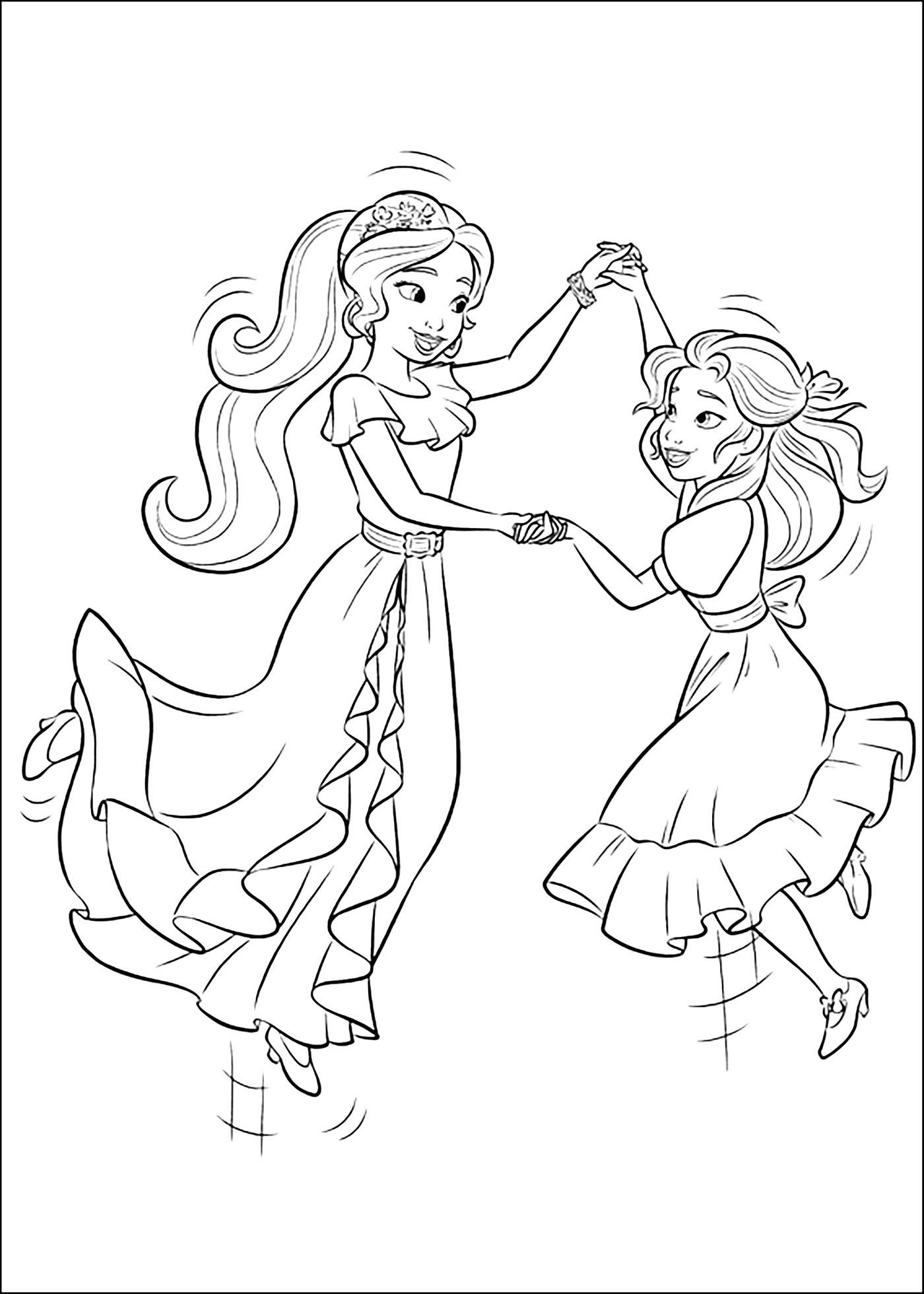 Elena Of Avalor Coloring Pages Coloring Books Cartoon Coloring