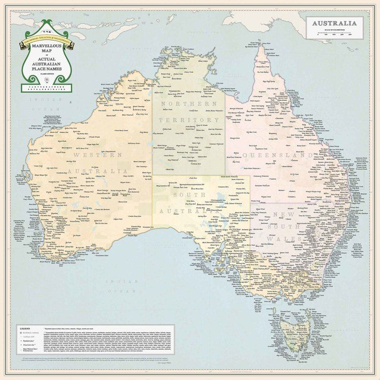 Show Me The Map Of Australia.Rude Place Names In Australia By St G Map Australia Maps