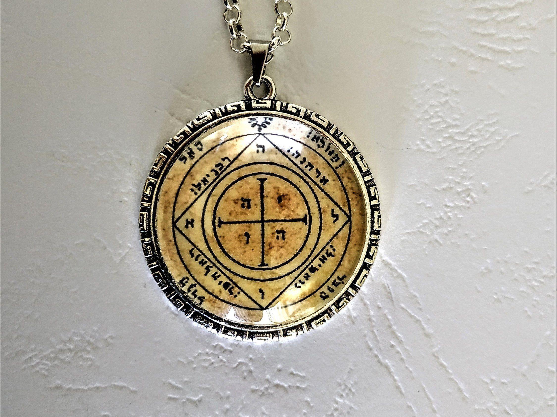 Tetragrammaton Pentagramme Occulte Pendentif Talisman Pentacle Collier