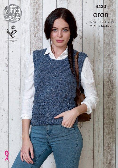 Slipover & Sweater 4433 - King Cole   ritknit   Pinterest   Tejido