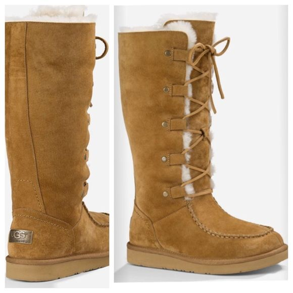 Ugg Appalachian Water Resistant Suede Boots Sz 7 Nwt