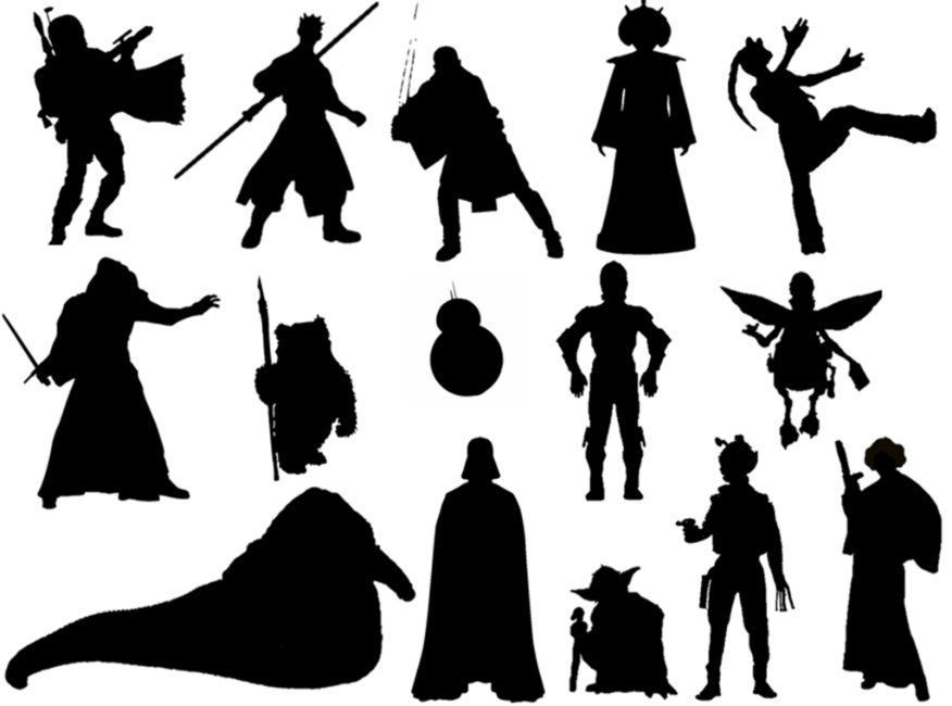 Wars Characters: Star Wars Characters, Star Wars Characters Silhouettes