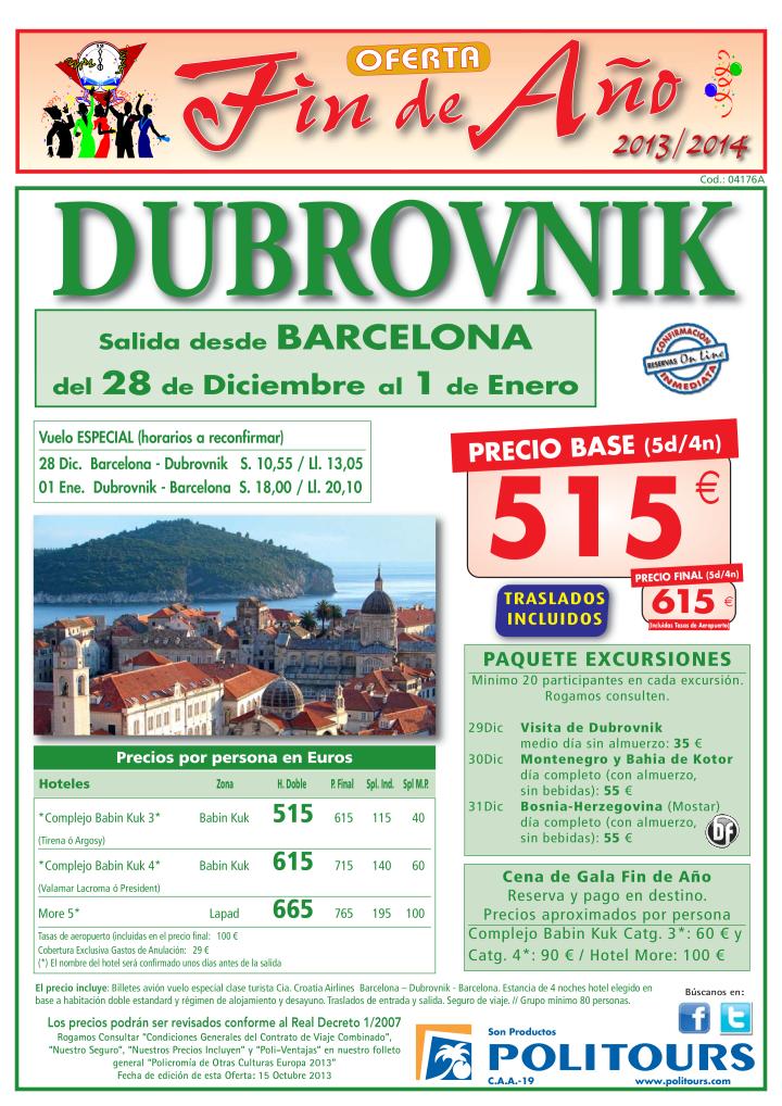 Fin de Año Dubrovnik traslados incl. salida 28/12 desde Barcelona ( 5d/4n) p.f. 615€ ultimo minuto - http://zocotours.com/fin-de-ano-dubrovnik-traslados-incl-salida-2812-desde-barcelona-5d4n-p-f-615e-ultimo-minuto/