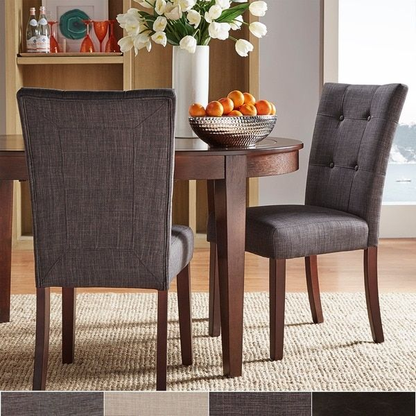 TRIBECCA HOME Hutton Upholstered Dining Chairs (Set Of 2