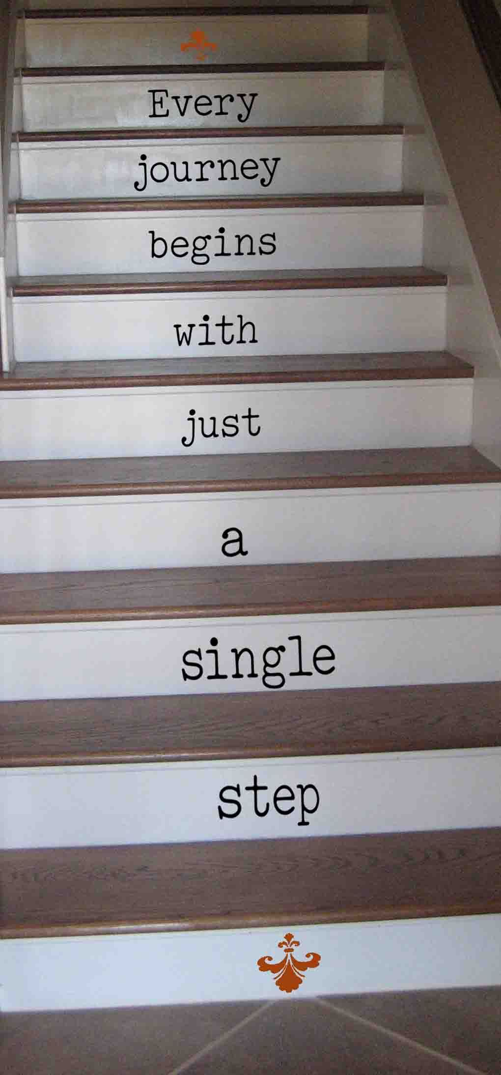 Every Journey Single Step Wall Decal Stair Quotes Stairs Stair Art
