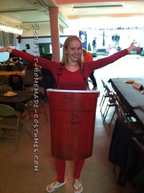 Cool Red Solo Cup Halloween Costume   Red solo cup, Halloween ...
